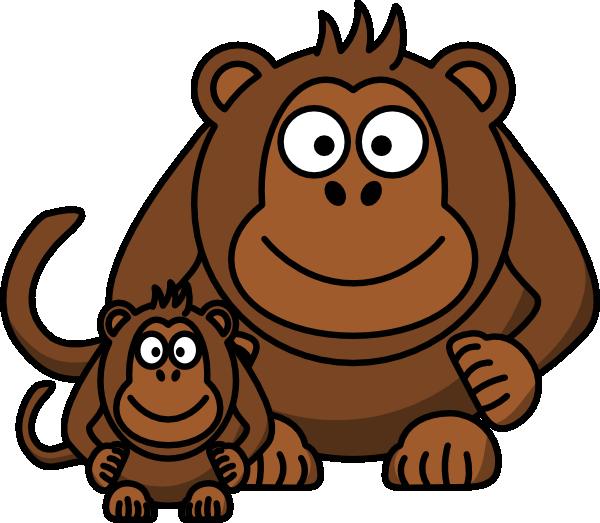 Ape baby clip art. R clipart cartoon