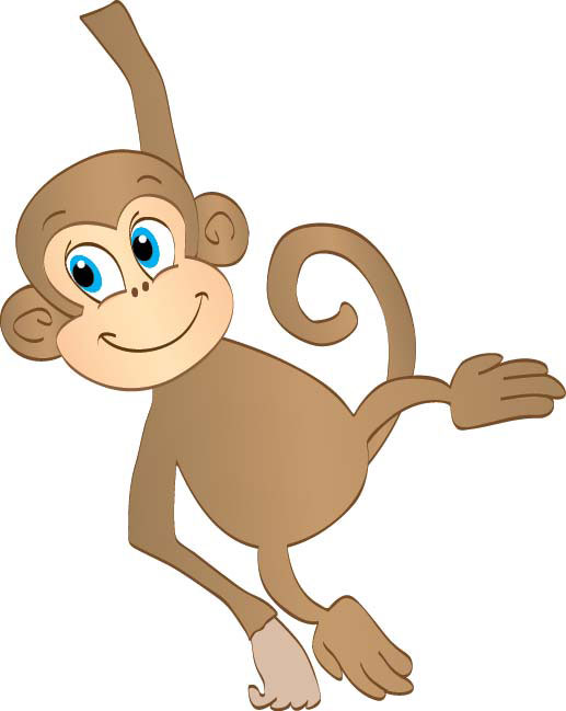 Ape clipart animated. Hanging monkey dromggg top