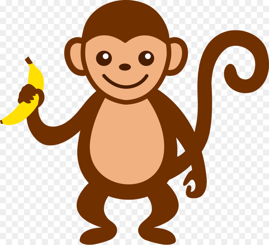 Baby monkeys brown spider. Ape clipart animated