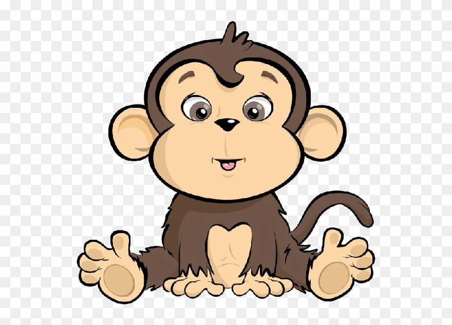 Ape clipart animated. Banner free library cute