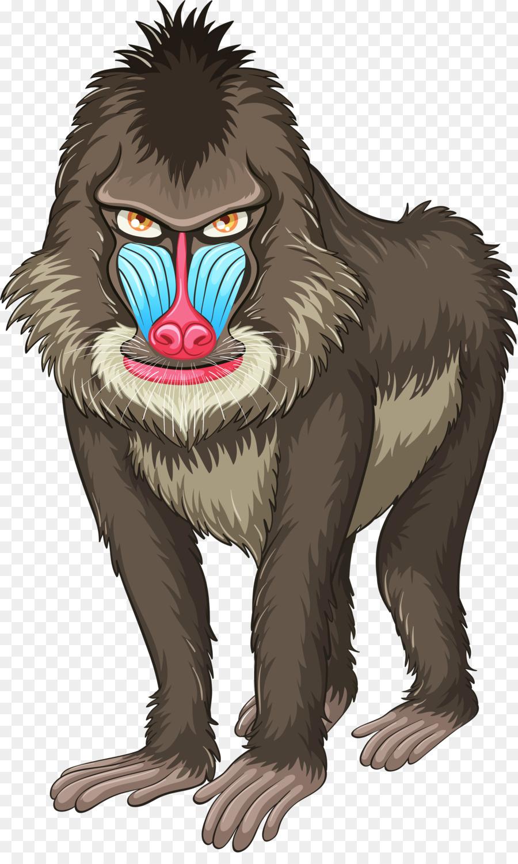 Ape clipart baboon. Mandrill hamadryas clip art