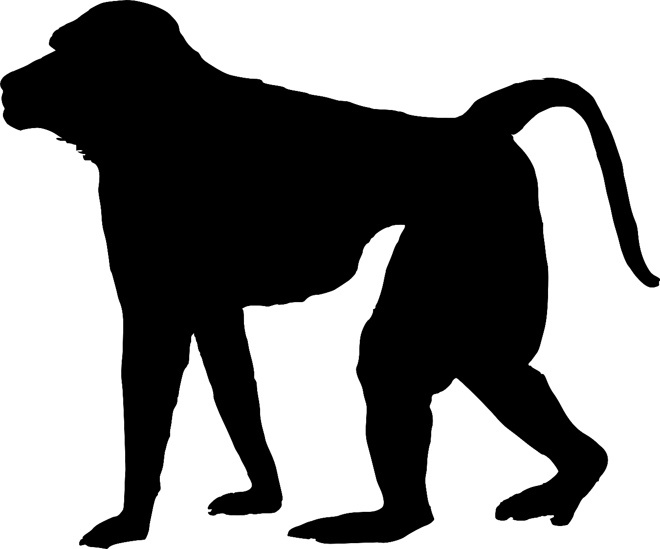 Silhouette at getdrawings com. Ape clipart baboon