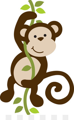 Primate png and psd. Ape clipart baby