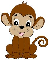 Cute group baby clip. Monkey clipart kid
