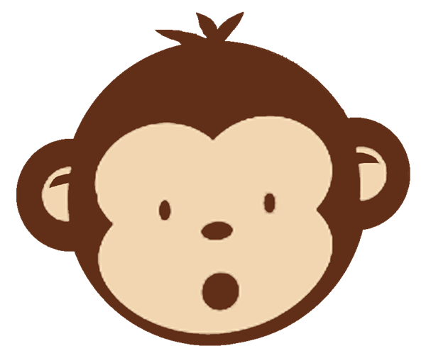 Silhouette clipart monkey. Baby clipground shower