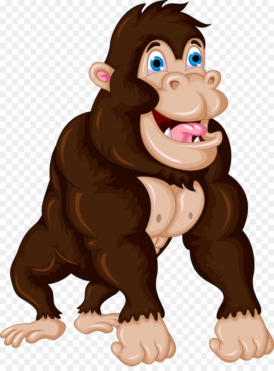 Ape clipart big monkey. Gorilla cartoon chimpanzee clip