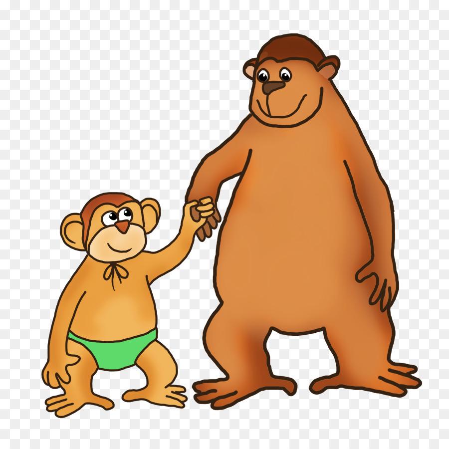 Beaver cartoon drawing bear. Ape clipart big monkey