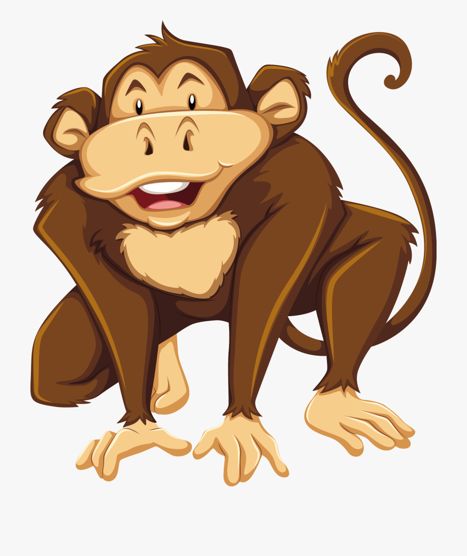 Gorilla flashcard free . Ape clipart big monkey
