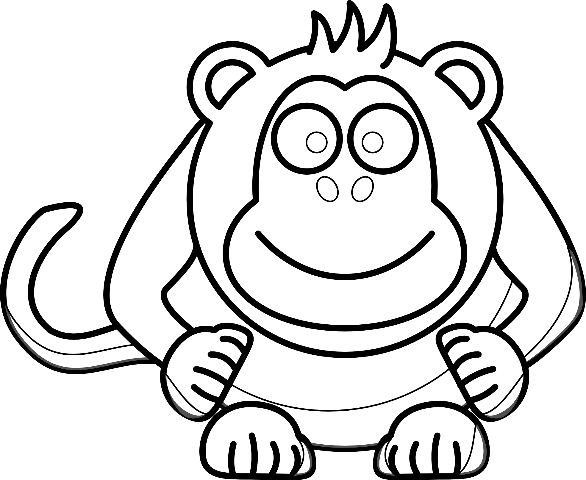 Pajamas clipart black and white. Monkey panda free images