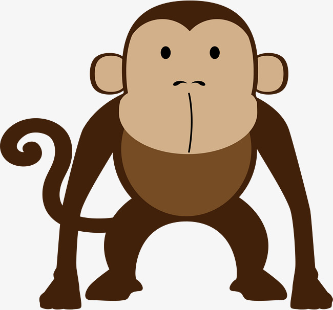 Ape clipart brown. Monkey stay watercolor lovely