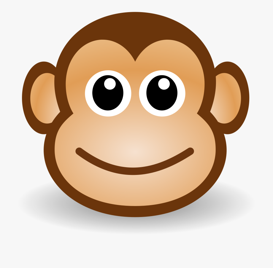 Monkey clipart baboon. Free cute cartoon illustration