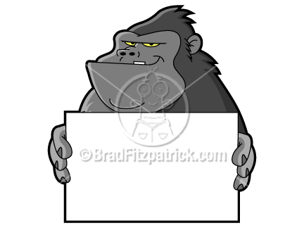 Clip art graphics icon. Ape clipart cartoon