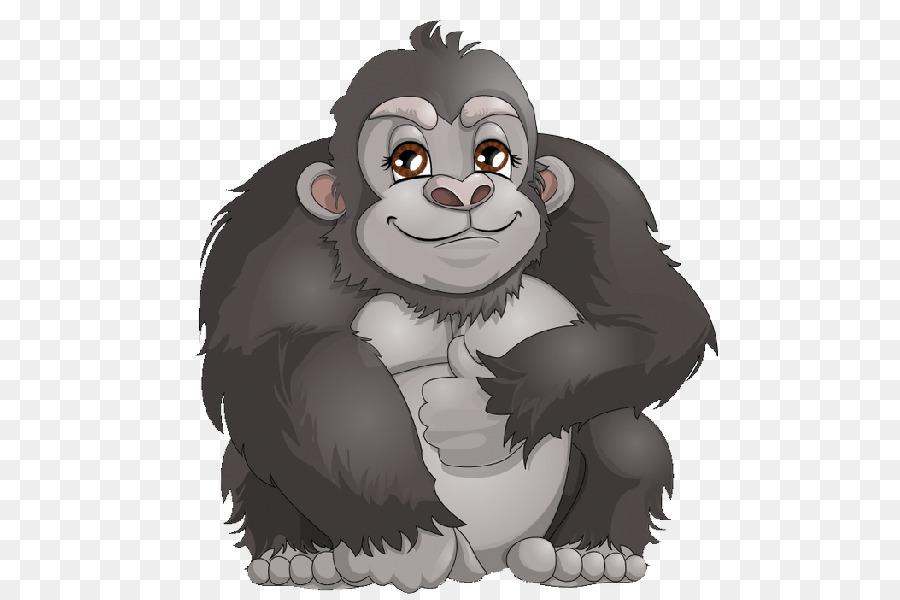 Gorilla free download clip. Ape clipart cartoon