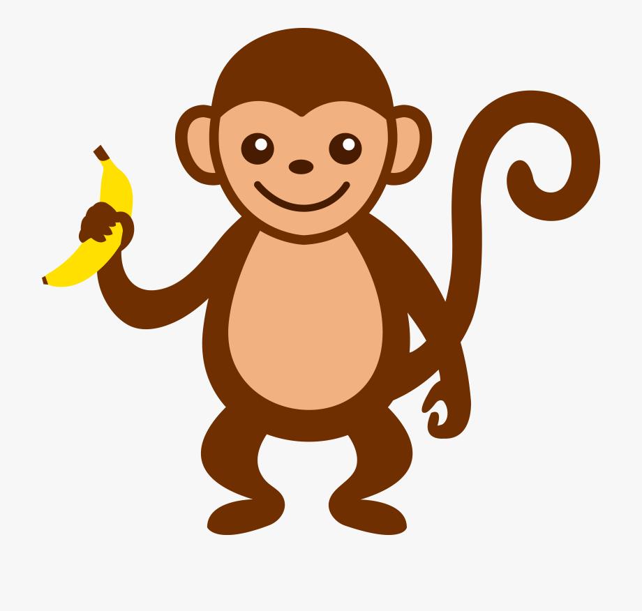 Brown monkey transparent . Ape clipart cartoon