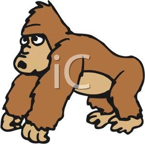 Ape clipart clip art. Royalty free image a