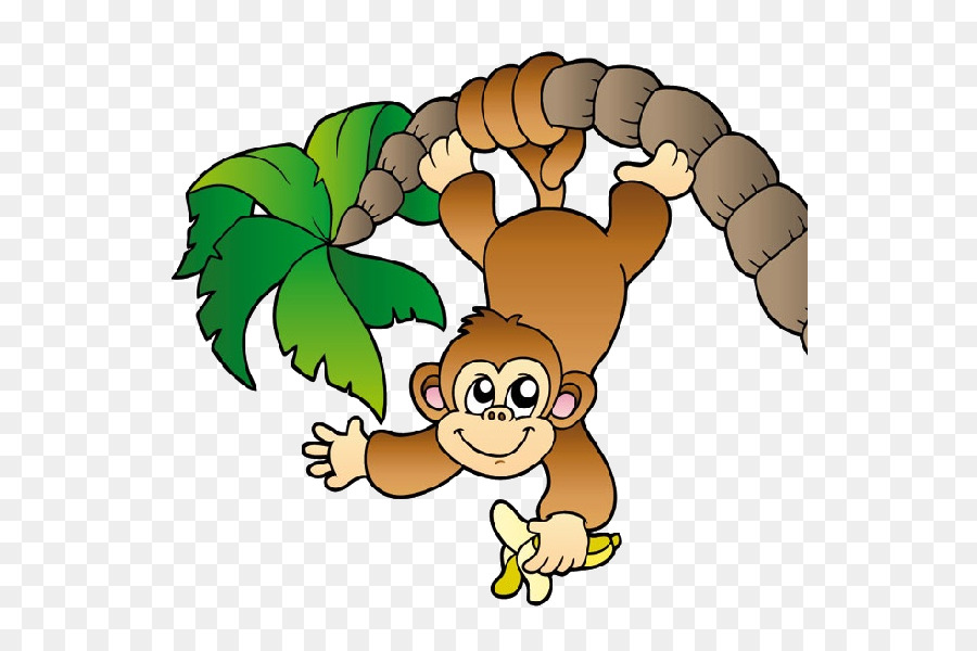 Monkey tree royalty free. Ape clipart clip art