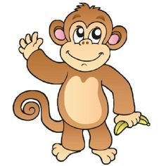 Funny baby monkey pictures. Ape clipart clip art