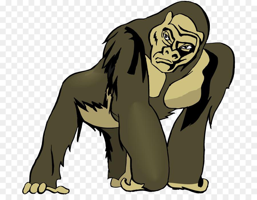 Ape clipart clip art. Monkey cartoon human wildlife