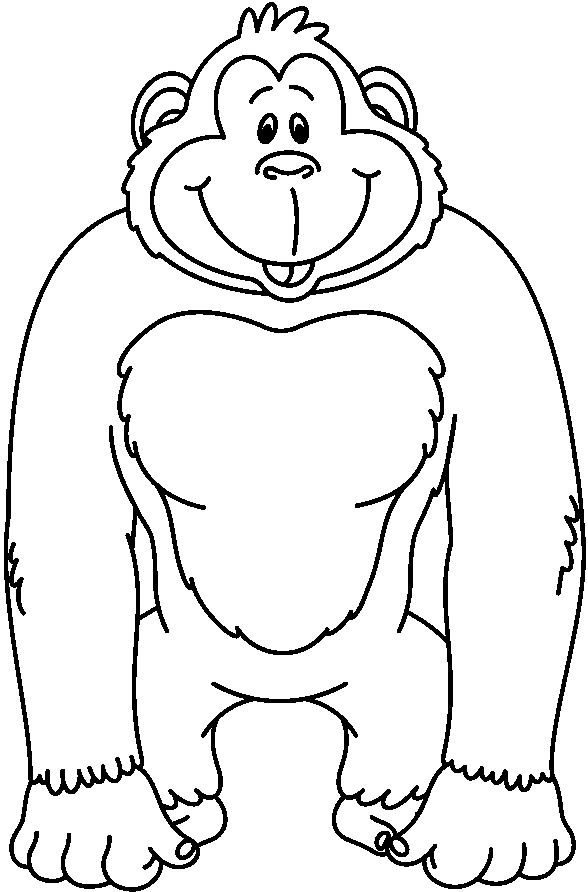 Black and white library. Ape clipart clip art