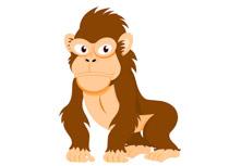 Gorilla clipart ape. Free monkey clip art