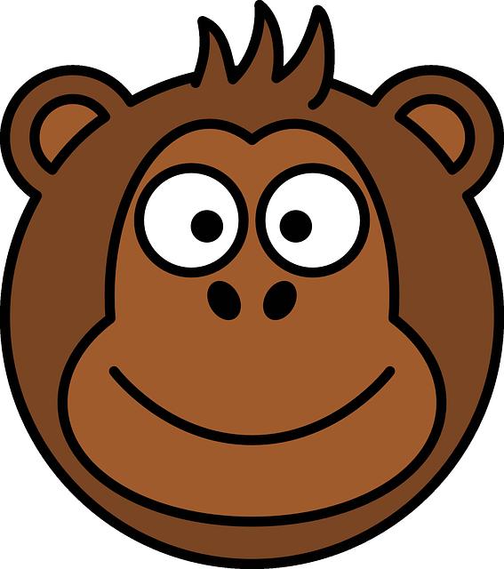 Face clipart orangutan. Ape panda free images