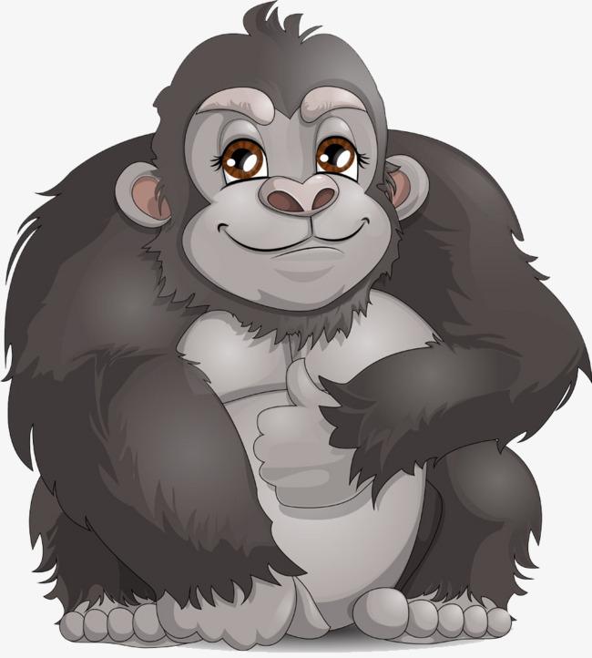 Cute cartoon animation power. Gorilla clipart