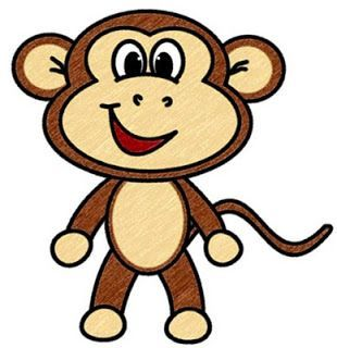 Clipart monkey simple. Face drawing at getdrawings