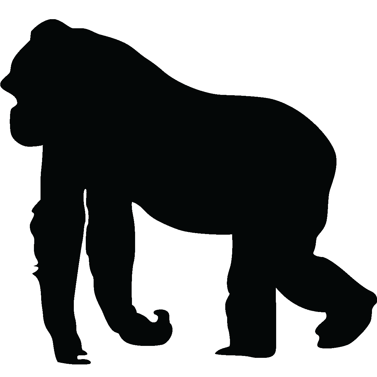 Restaurants clipart silhouette. Gorilla wall pinteres more
