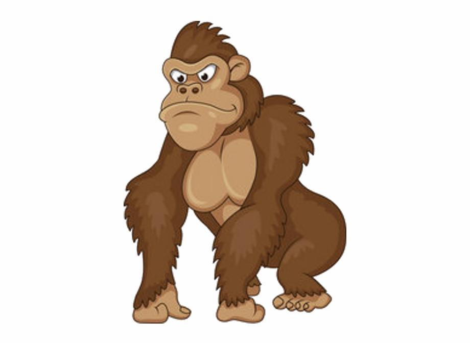 Gorilla clipart ape. Banner free download monke