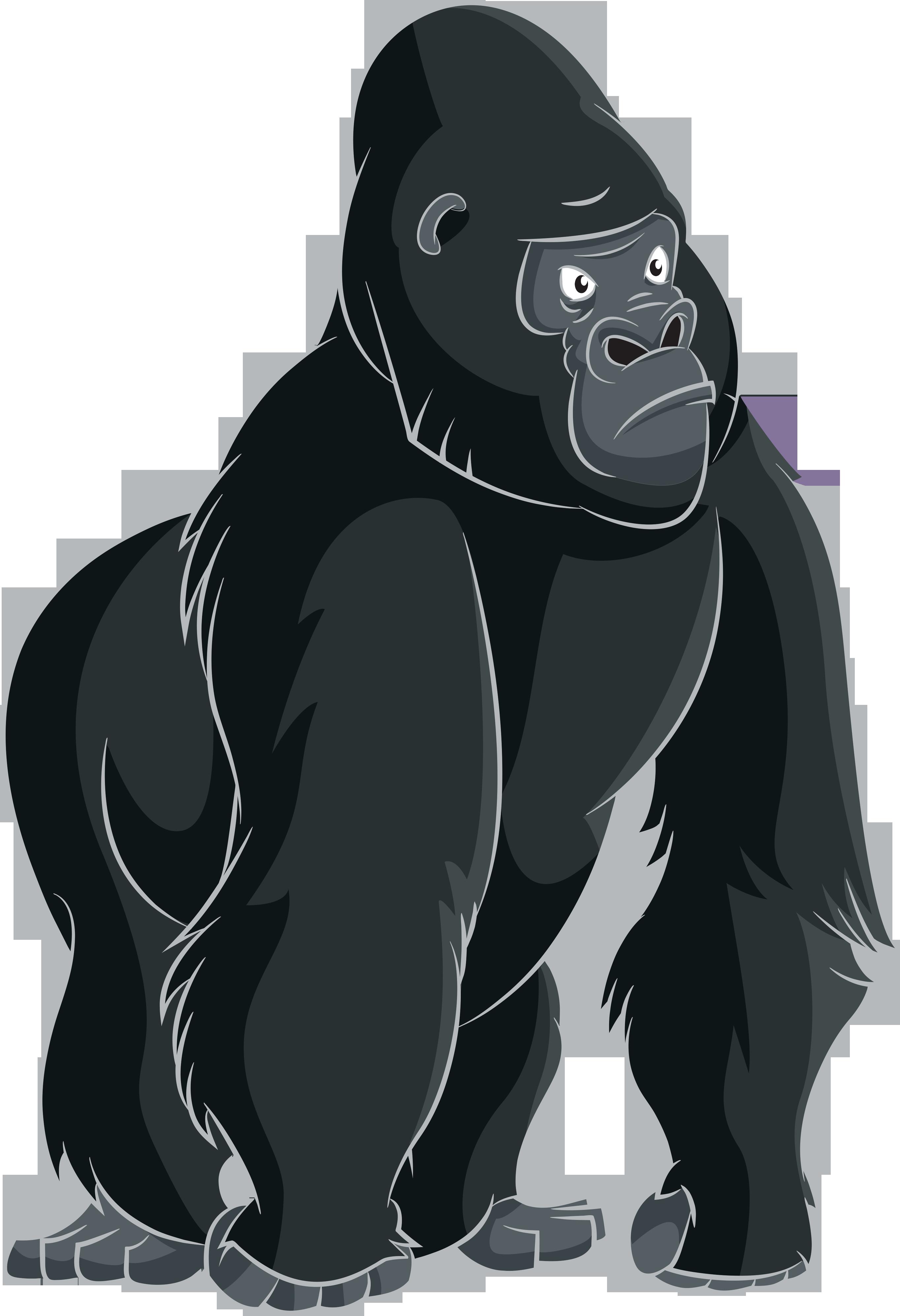 Cartoon clip art png. Gorilla clipart ape