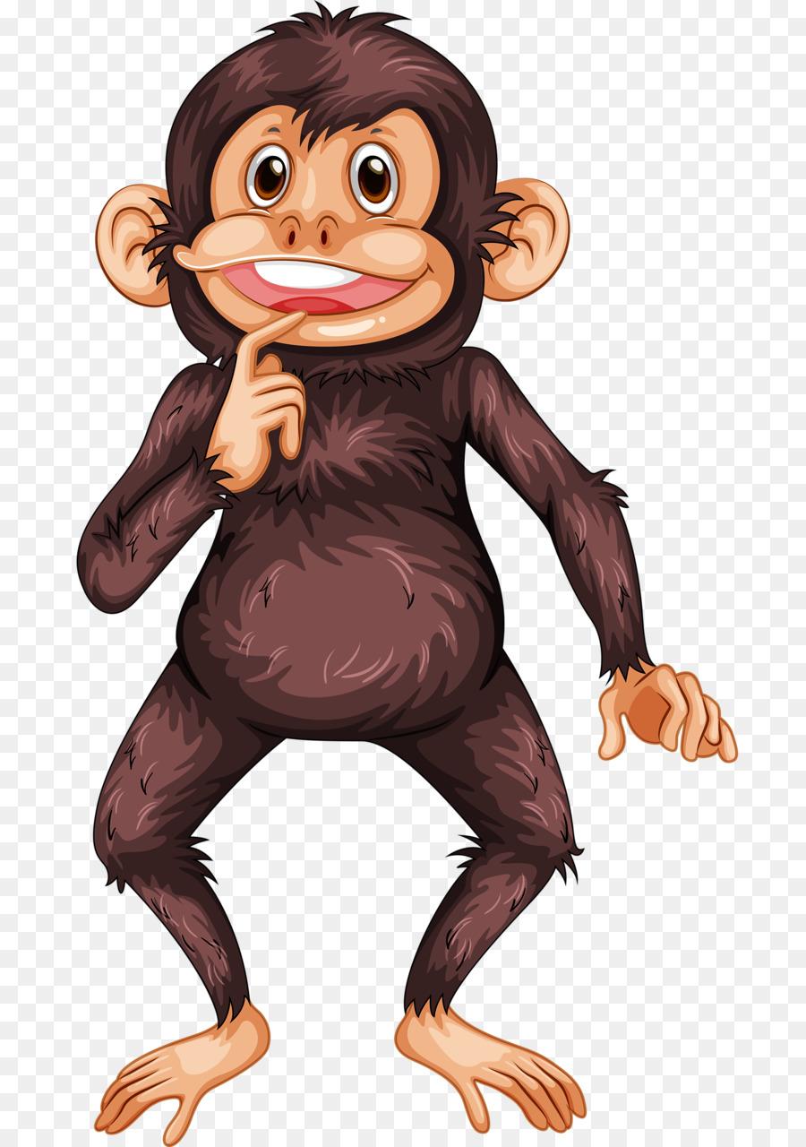 Bonobo clip art thinking. Ape clipart gorilla arm