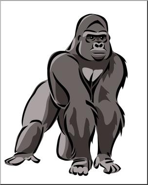 Gorilla clipart. Clip art color i