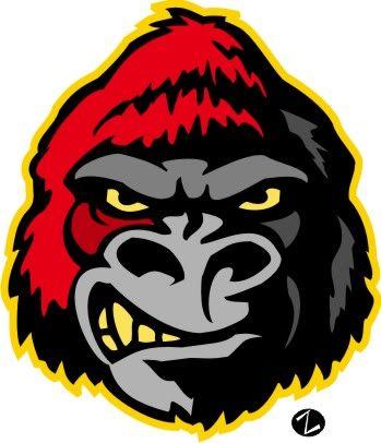 Ape clipart gorilla family. Pittsburg state mascot logo