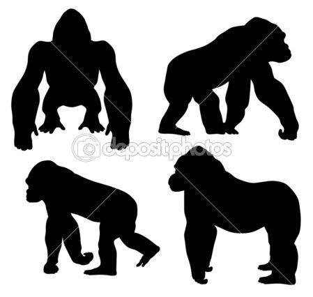 best images on. Ape clipart gorilla family