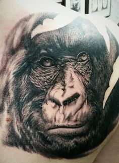 best female tattoo. Ape clipart gorilla family