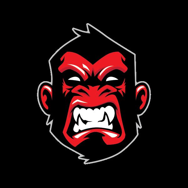 Printed vinyl ape gorilla. Factories clipart bad environment