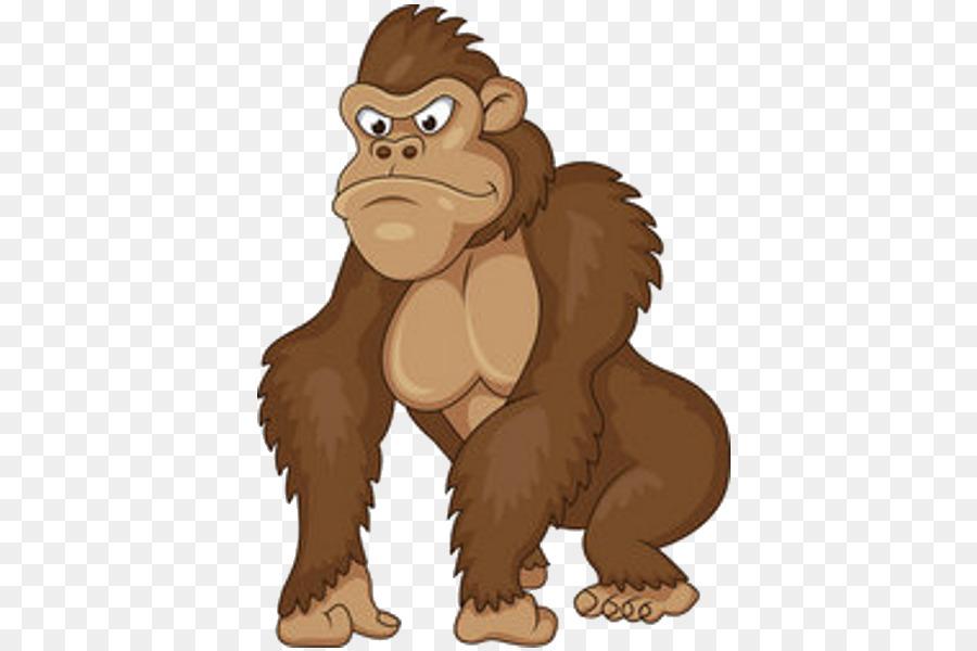 Gorilla royalty free clip. Ape clipart happy