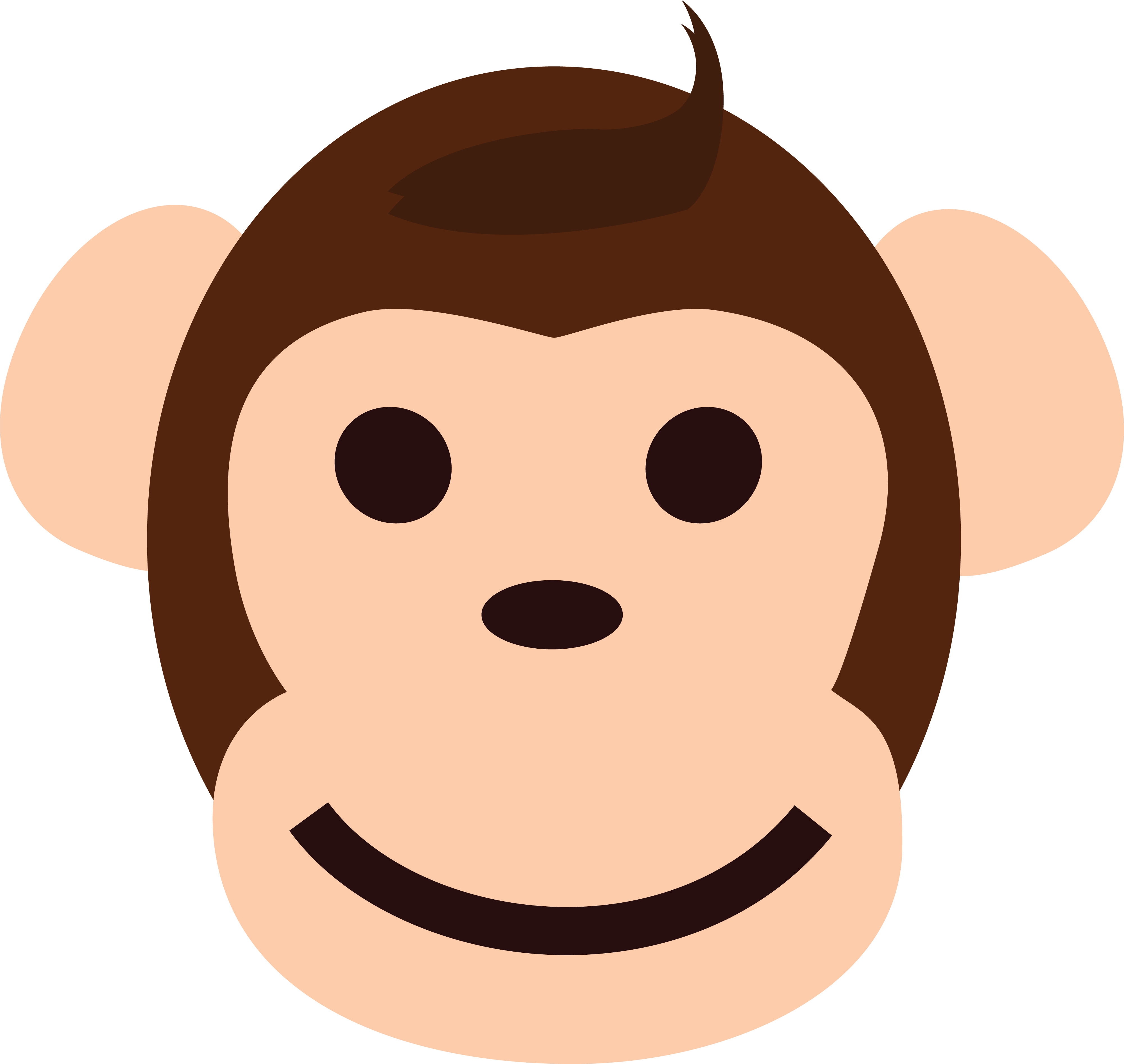 Ape clipart happy. Monkey face free download