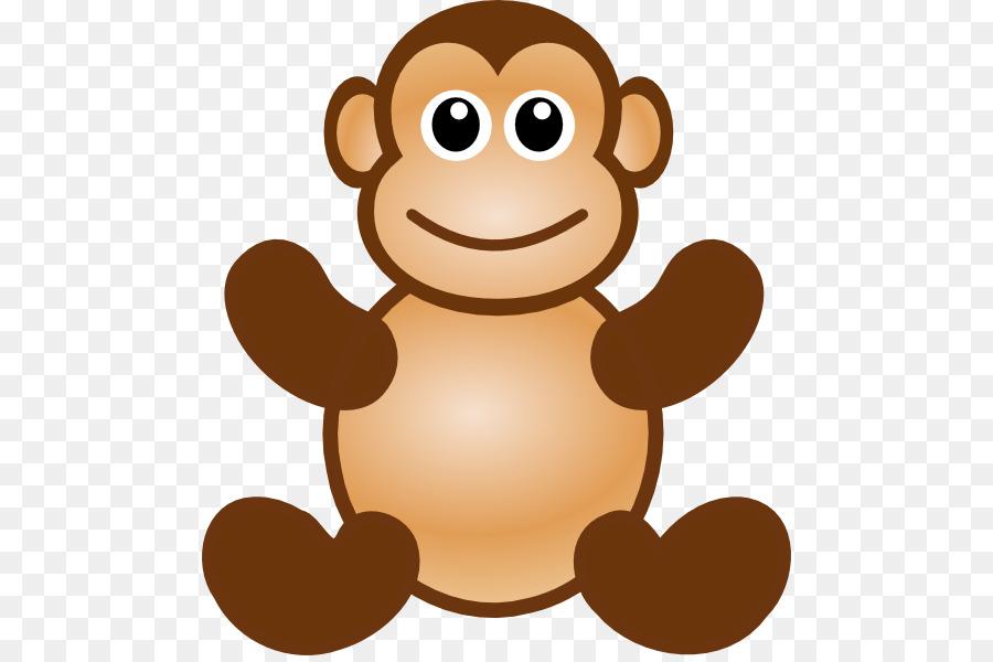 Ape clipart macaque. Monkey cartoon clip art