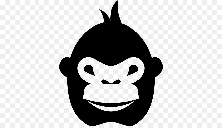 Gorilla computer icons monkey. Ape clipart macaque