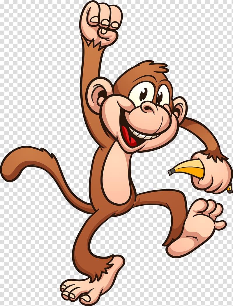 Monkey primate transparent background. Ape clipart mongkey