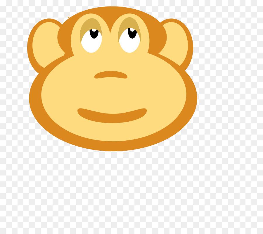 Monkey cartoon nose circle. Ape clipart mongkey