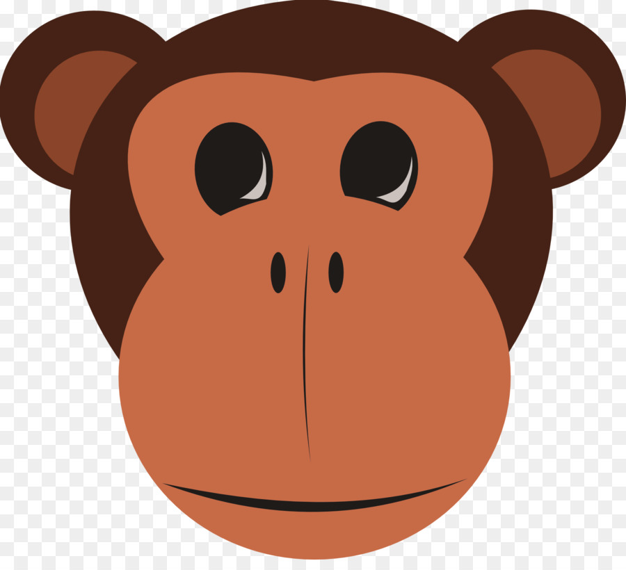 Ape clipart monket. Monkey drawing cartoon snout