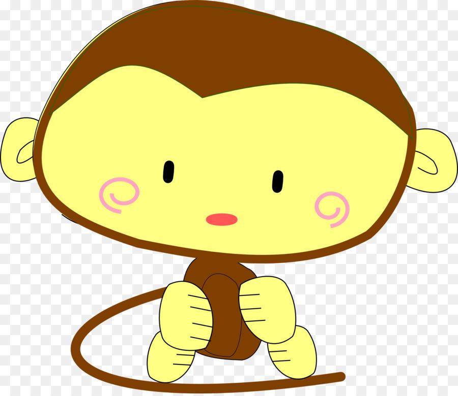 Ape clipart monket. Baby monkeys primate clip