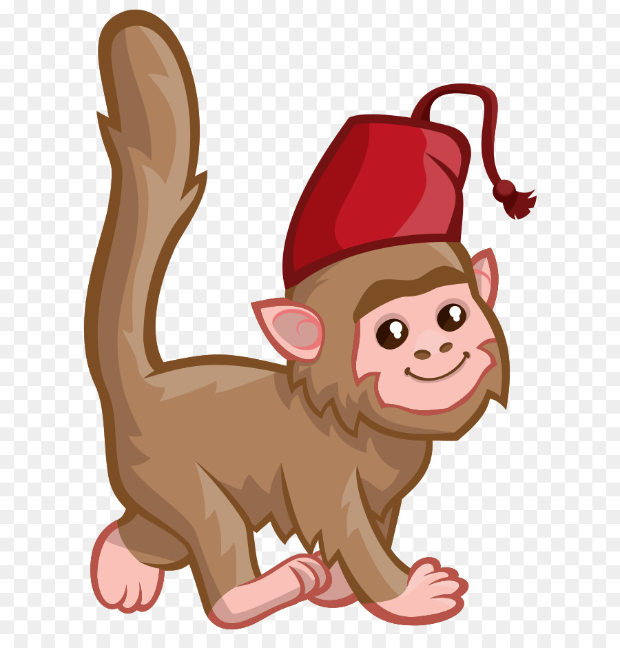 Ape clipart monkey tail. Drawing hat clip art