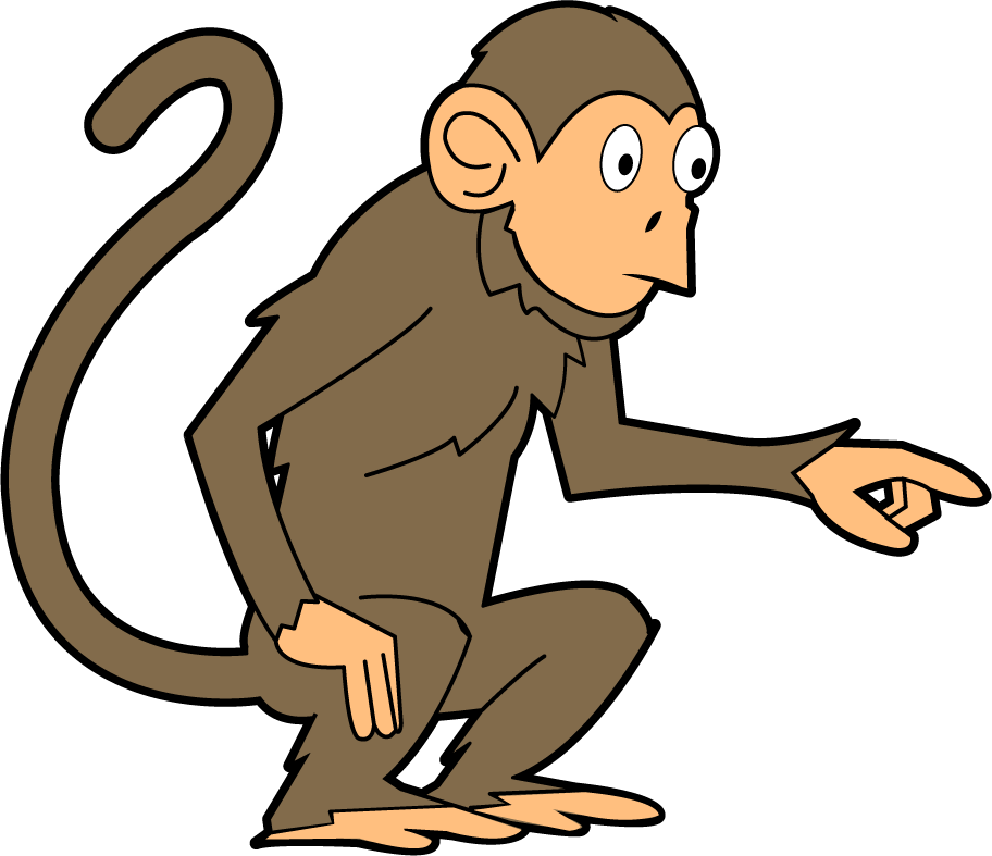 Tail pencil and in. Animals clipart monkey