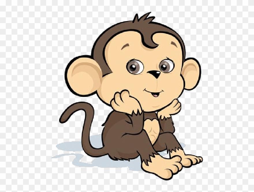 Clipart monkey mokey. Cartoon image tattoos baby