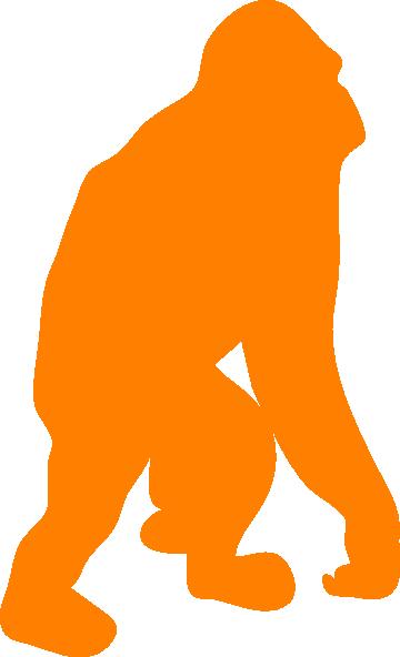 Ape clipart orangutan. Orange clip art at