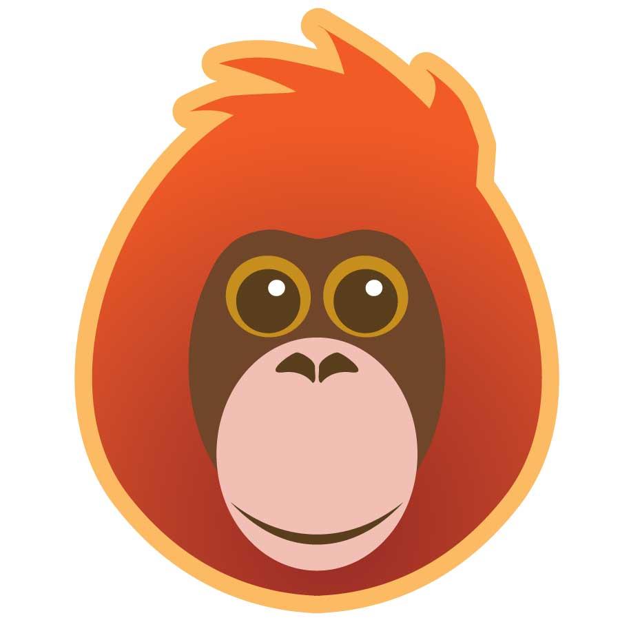 Ape clipart orangutan. Membership learn pongos