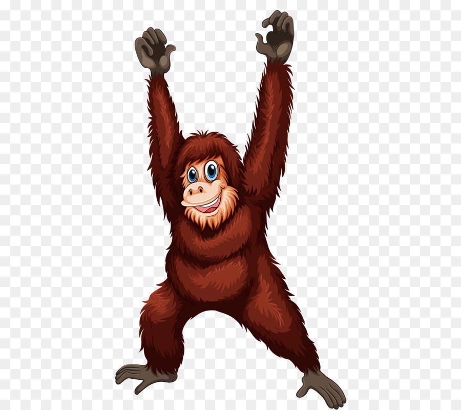 Royalty free clip art. Ape clipart orangutan